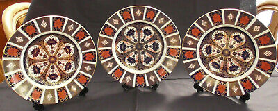 ROYAL CROWN DERBY OLD IMARI 1128 3x DINNER PLATES 2nd Quality 10.5  • 220£