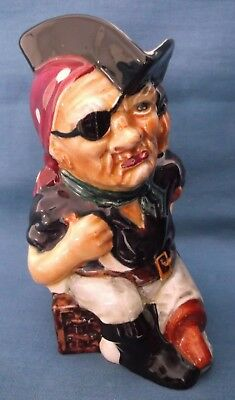 Long John Silver Character Toby Jug Vintage Staffordshire Shorter & Son England • 24.99£