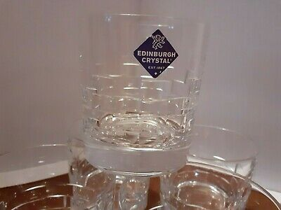 PAIR  Edinburgh Crystal -  SKIBO  - Old Fashioned Whisky Tumbler, DISCONTINUED  • 29.98£