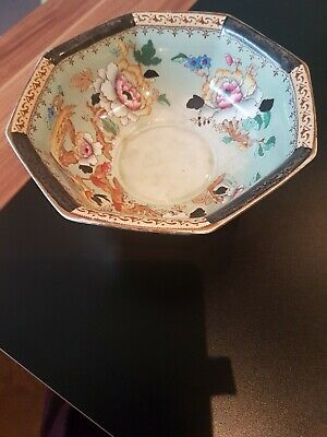 Antique Losol Ware Shanghai Porcelain Bowl-Chinese Style • 20£