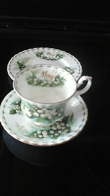 Royal Albert Flower Of The Month   May  Lily Of The Valley Trio • 19.99£