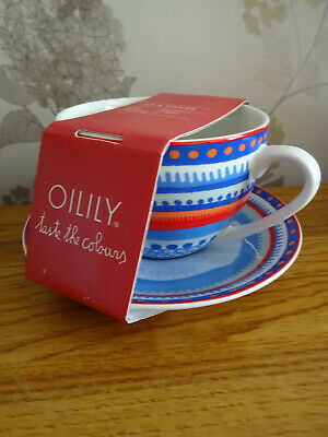 Very RARE OILILY Cup And Saucer  NEW Designer Kitchen Taste The Colours • 15£