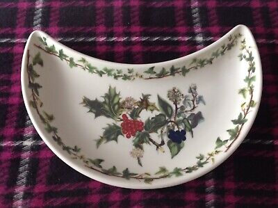 Portmeirion Holly And The Ivy Crescent Shaped  Service Dish • 9.50£