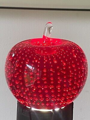 Vintage Whitefriars Ruby Red Controlled Bubble Apple Paperweight  • 10.60£