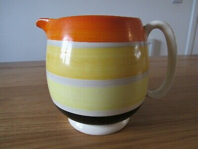 Gray's Pottery Hand Painted Colour Banded Jug • 15£