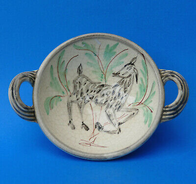 BOURNE DENBY - Glynn Colledge HAND PAINTED Dish - SPOTTY HORSE - 1950s • 12.50£