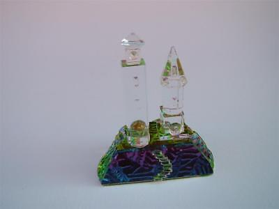 LIGHTHOUSE Crystal Cut Glass Coloured Ornament • 12.99£