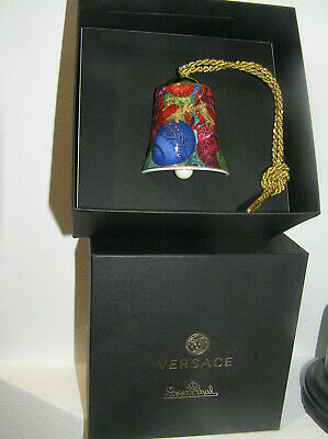 Rosenthal Versace Christmas Holiday Glitter Bell Never Been Displayed Boxed  • 62.95£