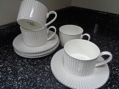 Marks & Spencer Hampton Cups And Saucers X 4 • 24£