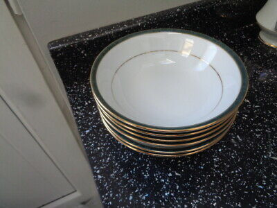 Boots Hanover Green Cereal Bowls X 6 • 30£