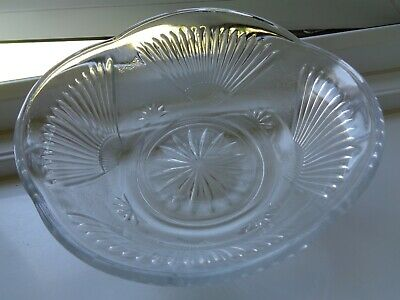 Vintage/Retro Clear Pressed Glass Trifle / Salad / Fruit Bowl • 1£
