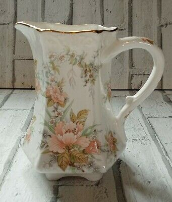 Vintage Fenton Bone China Flower Design Jug  • 16.99£