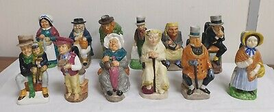 Complete Set Of 12 Wood & Sons Franklin Porcelain Charles Dickens Toby Mugs • 65£