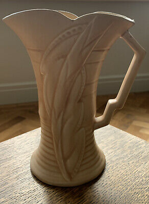 Vintage Large Arthur Wood Art Deco Vase / Decorated Pottery Jug Pitcher Harford • 14.99£