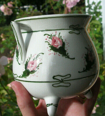 WEMYSS WARE ? CAULDRON SHAPED POT With ROSES • 12£