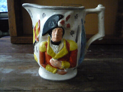 Lord Wellington And General Hill Jug Antique Pearlware C 1815 • 20£