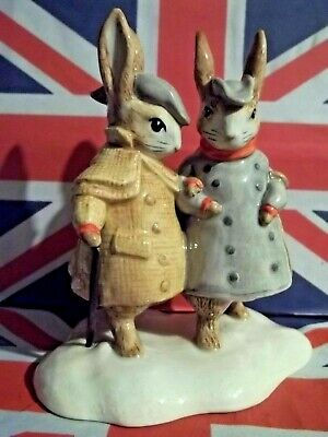 TWO GENTLEMAN RABBITS The LAST BEATRIX POTTER FIGURINE EVER PRODUCED MINT IN BOX • 1,153.98£