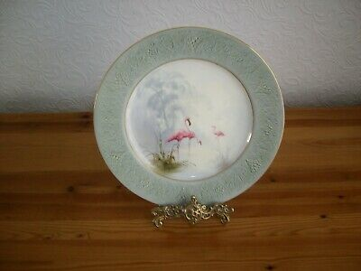 Royal Worcester Flamingoes  Cabinet Plate - Powell • 200£