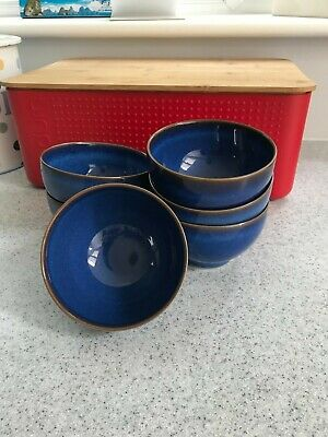 6 Denby Blue Imperial Small Noodle Bowls • 16£