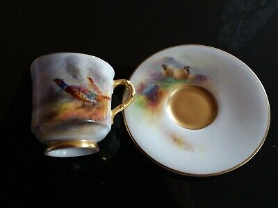 Royal Worcester China Cup & Saucer Painted By James Stinton And E Barker • 10£