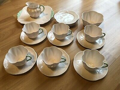 SHELLEY 21 PIECE TEA SET Pastel Pink. Fine Bone China. Cup And Saucer • 79£