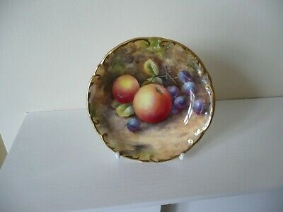 Royal Worcester Fruit - Hand Painted Dish - Signed G. Banks.- Gc • 26£