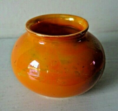 Royal Doulton, Miniature, Orange,  Titanian  Ware Vase • 49£