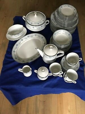 49 Pieces Noritake  Blue Hill  Fine China Pattern 2482 Tableware   • 300£