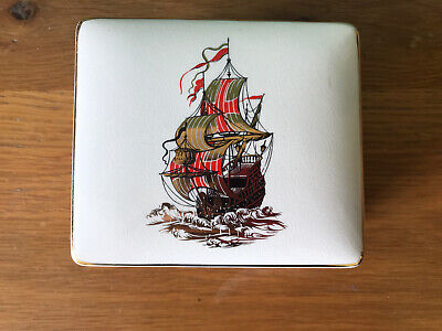 Vintage Sandland Wear Galleon Trinket Box. • 8.99£