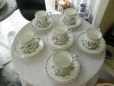 Aynsley Pembroke  Coffee Cups And Saucer X 6 • 45£