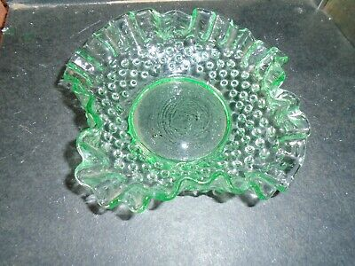 Lovely Green Depression Glass Dish With Fluted Edges-no Damage • 10.99£