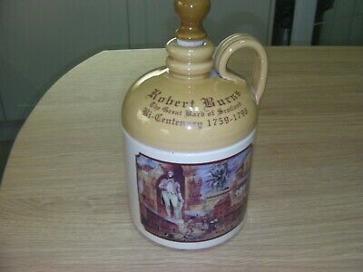 Rare Buchan Pottery  Robert Burns Bi-centenary  WHISKY STONEWARE JUG  • 25£