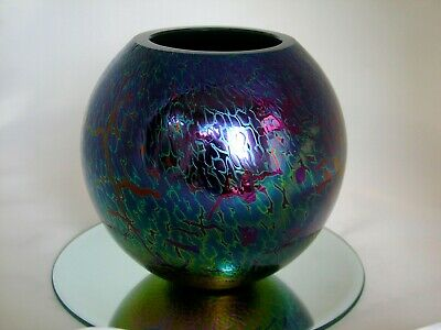Royal Brierley Large Vase - Stunning Irridescent Art Glass  • 19.99£