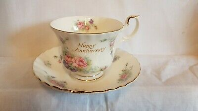 Royal Albert Happy Anniversary Cup And Saucer Excellent Condition  • 9.99£