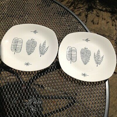 Vintage Midwinter Pottery Pair Of 'nature Study' Plates Conran • 44.99£
