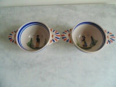 Two Continental Bowls Like Quimper • 7.99£