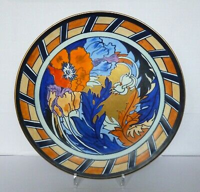 WOOD & SONS BURSLEY WARE Charlotte Rhead PATTERN 1550 Large Wall Plaque C.1930's • 310£