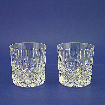 Two Stuart Crystal 'Shaftesbury' Pattern Whisky Tumblers/Glasses - 9cm/3.5  High • 34.99£
