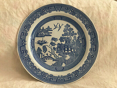 Exc Cond Spode Blue Room Collection Plate Willow 10.4'' (26.5cm) • 10£