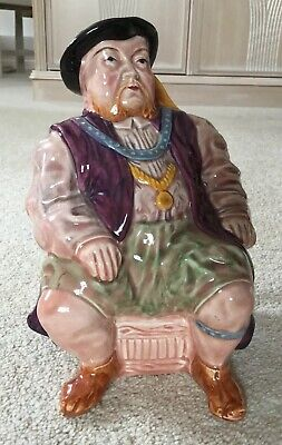 Toby Jug - Melba Ware King Henry VIII Vintage Staffordshire Pottery Character • 9.99£