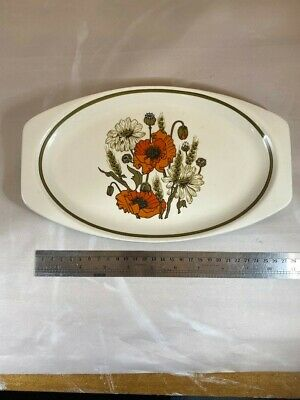 J&G Meakin 'Poppy' Platter Dish Plate Ironstone Vintage 70s Excellent Condition • 1.30£