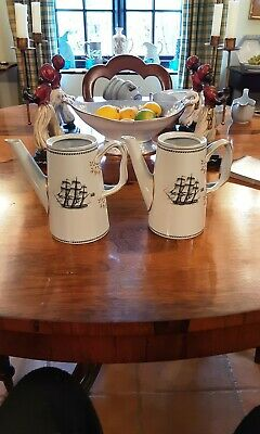 Spode Trade Winds  Black, Two Coffee Pots Without Lids. • 30£