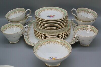 Rare Beautiful Vintage Paragon 'Dorset' Pattern Tea Set With TWO Royal Warrants • 70£