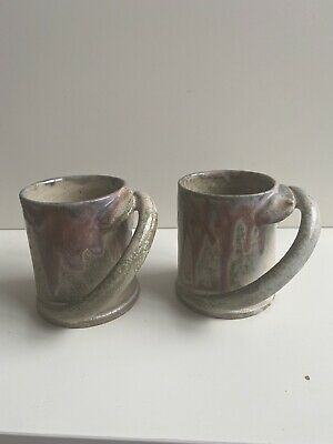 Fabulous Pair Of Art Nouveau Coffee Cups By Charles Gréber • 125£