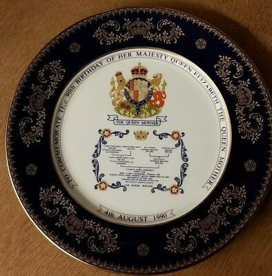 Aynsley Commemorative Queen Mother 1990 90th Birthday Decorative Plate  • 3.75£