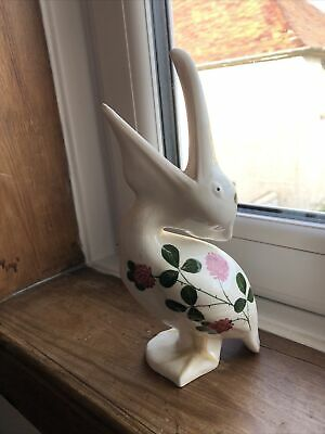 Large Plichta Pottery Pelican Hand Painted With Clover Pattern 23 Cm High • 24.99£