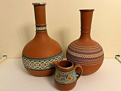 Watcombe Pottery Group Three Items All Signed In Some Way • 19£
