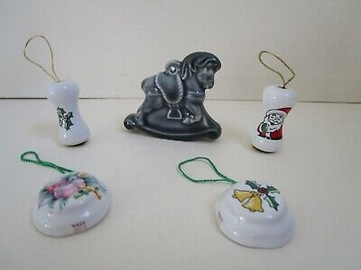 Wade Collection Of 5 Porcelain  Christmas Tree Ornaments • 16£