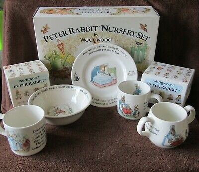 Wedgwood Peter Rabbit Nursery Set, 2-Handled Cup & Additional Small Cup • 25£