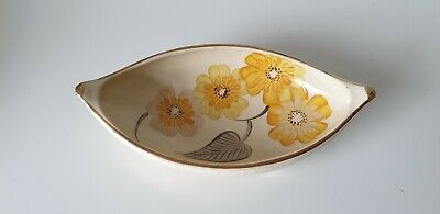 GRAYS POTTERY Hand Painted Small Oval Bowl ART DECO   • 20£